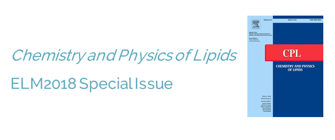 Chemistry and Physics of Lipids ELM2018 Special Issue