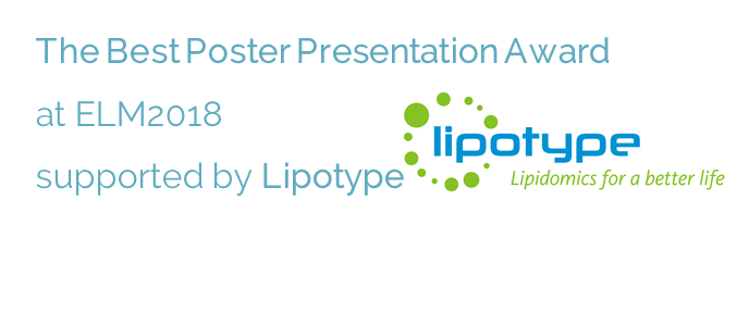 The Best Poster Presentation Award at ELM2018 supported by Lipotype