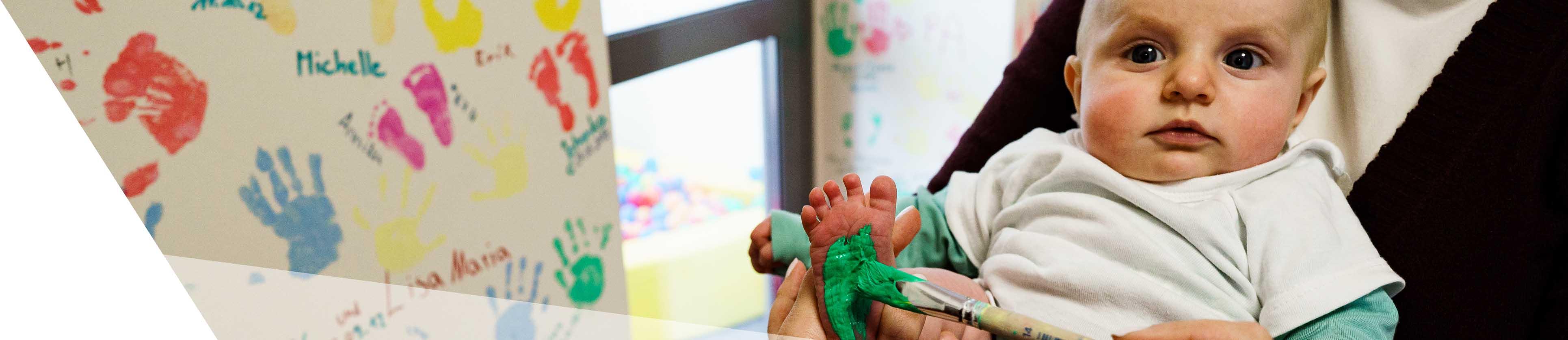 Banner Baby Fuß