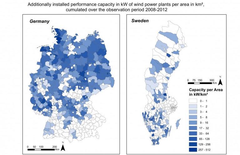Wie lässt sich die räumliche Verteilung der Windenergie erklären?