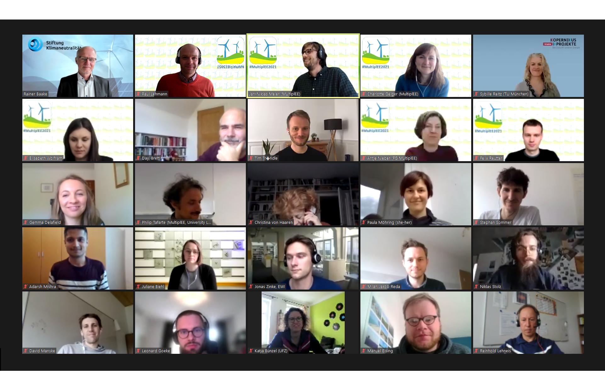 Digitaler MultiplEE Workshop zur räumlichen Steuerung erneuerbarer Energien