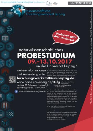 Naturwissenschaftliches Probestudium an der Universität Leipzig