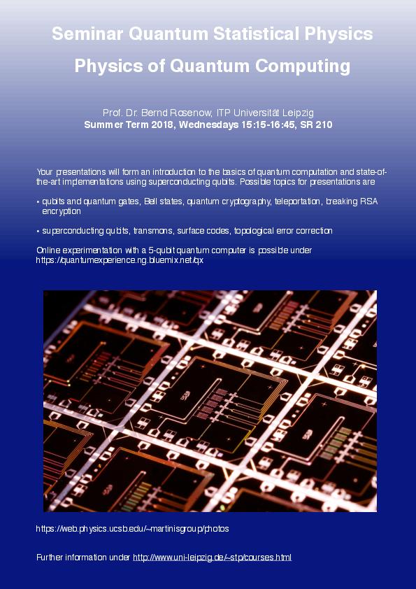 Physics of Quantum Computing
